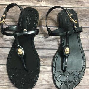 Coach Pier Jelly Sandals Black Size 7